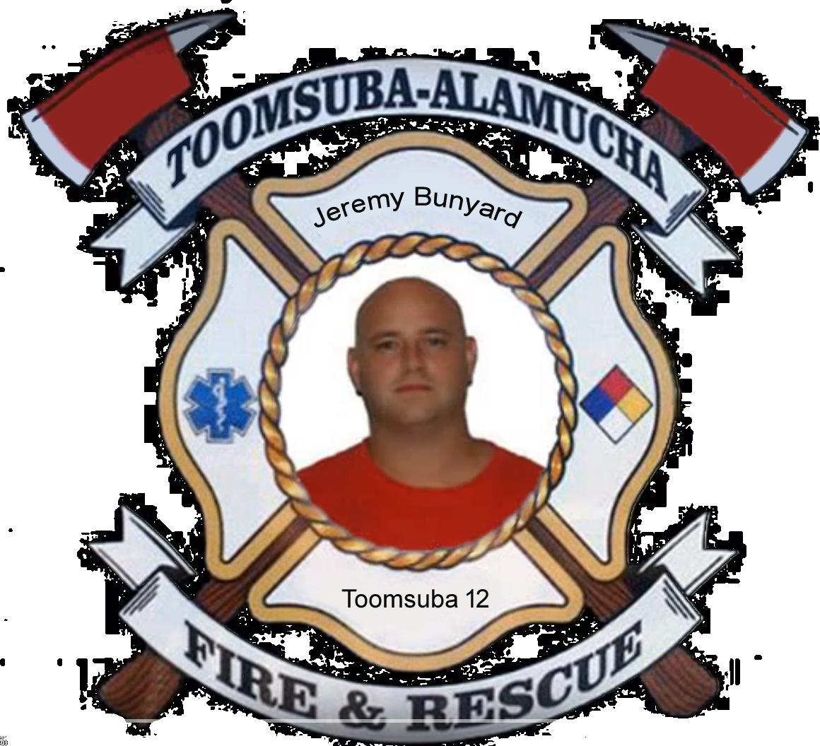 Jeremy Bunyard; Toomsuba Firefighter #12